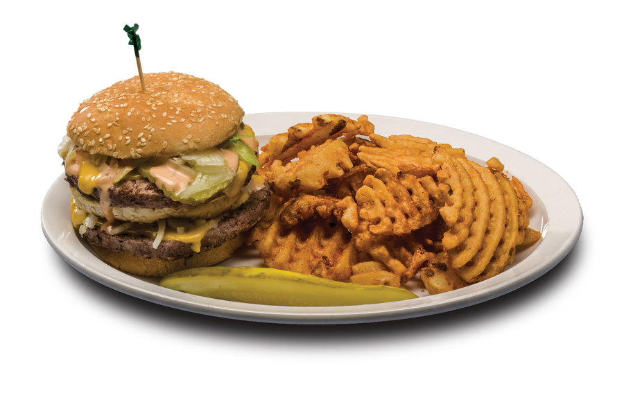 Two 1/4 lb. patties, American cheese, lettuce, pickles, onions, special sauce on a double deck bun. Sound familiar?